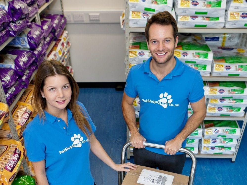 Adam and Lexi, the founders of PetShop.co.uk